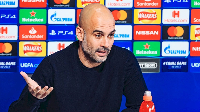 Técnico Pepe Guardiola, do Manchester City